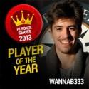 Fábio 'wannab333' Dâmaso é o PT Poker Series Player of the Year