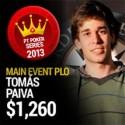 Tomás Paiva é o rei das quatro cartas