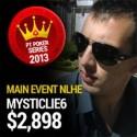 MysticLie6 é o Campeão Nacional de Texas Hold'em - $2.898