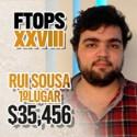 Prémio de $35,456 para Sousinha que ganhou o FTOPS #7