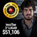 Miguel 'inca7bar' Silva foi 3º no SCOOP #46Medium e recebeu $51,106