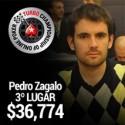 Pedro Zagalo foi o 3º classificado no TCOOP #9 e recebeu $36,774