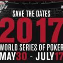 World Series of Poker de 2017 já têm data