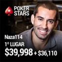 Naza ganhou o Super Sized Sunday e recebeu $39,998, mais $36,110 em bounties