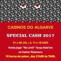 Special Cash 2017 às 21h no Casino Vilamoura