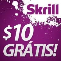 Abre conta na Skrill e recebe $10 grátis!