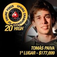 Tomás Paiva precisou de apenas 3 horas para ganhar SCOOP 20H - $177,699.40