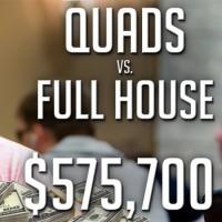 A análise de Doug Polk a um pote de $575,700 entre o full-house de Negreanu e o poker de Gus Hansen