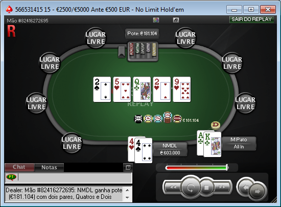 PokerStars - O Clássico - 24 junho - última mão - NMDL - M Pato