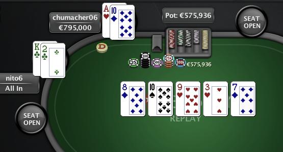 O Clássico - mão final - 4 de Março de 2012 - PokerStars