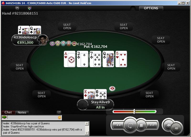 PokerStars - O Clássico - mão final