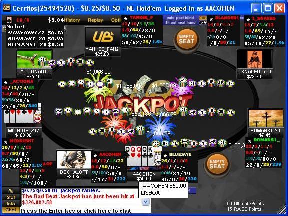 Ub poker bad beat